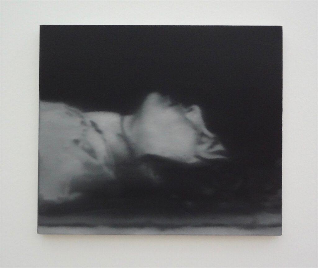 "Gerhard Richter ゲルハルト・リヒター ""18. Oktober 1977"" (Tote) , detail 1988 (Ulrike Meinhof)"