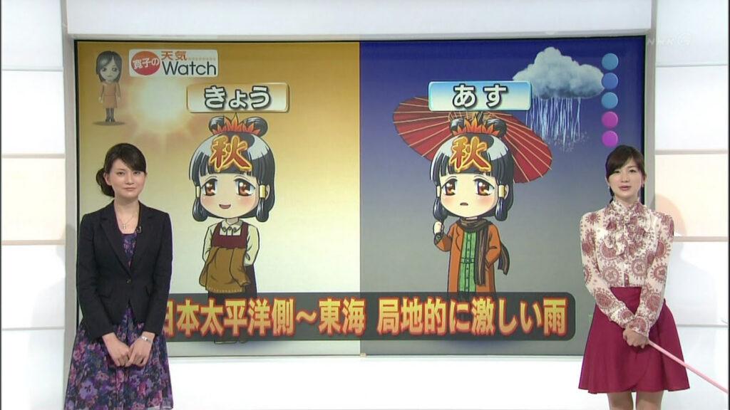 IDA Hiroko @ NHK weather report 2012