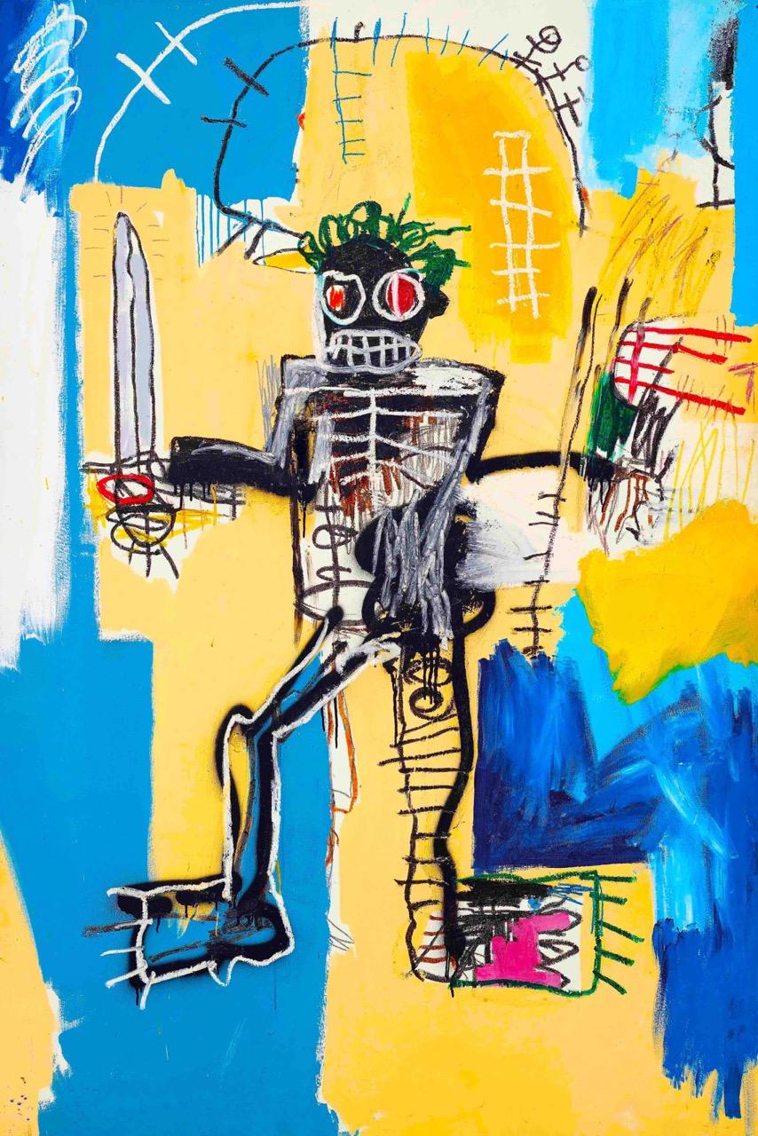 Jean-Michel Basquiat, Warrior(1982). Estimate is US$31 million–41 million
