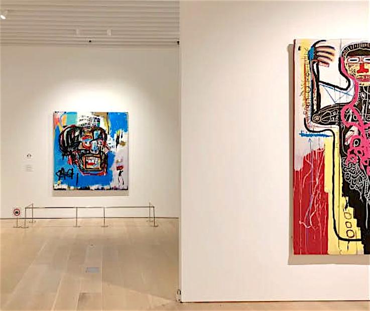 right side Basquiat @ Mori Arts Center Gallery, Tokyo, 2019 ジャン=ミシェル・バスキア Jean-Michel Basquiat Versus Medici 1982 $35 million–$50 million @ Sotheby's