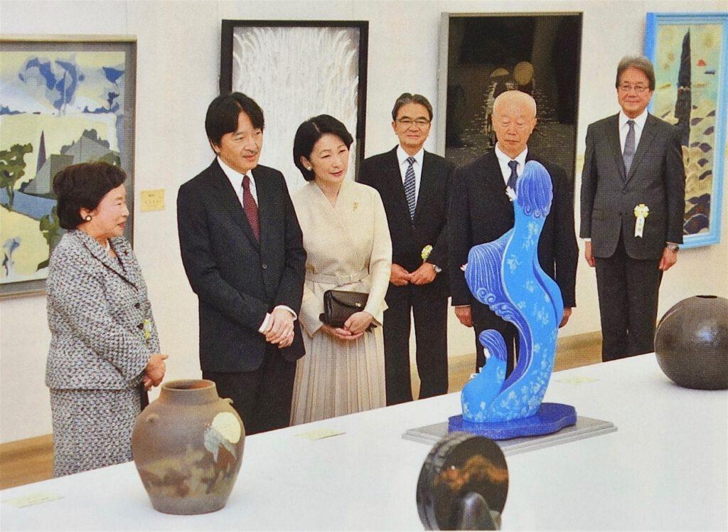 平成30年11月12日、当時の秋篠宮・同妃両殿下が六本木で第5回日展をご訪問