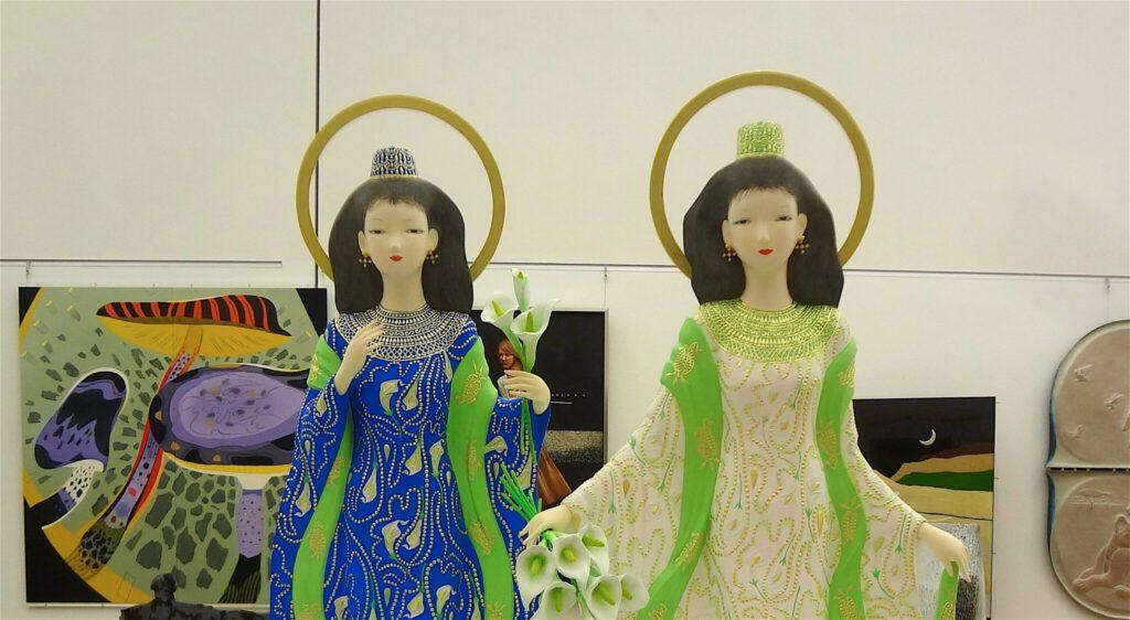 日展理事長 奥田小由女 OKUDA Sayume 「天空への祈り」平成27年、部分
