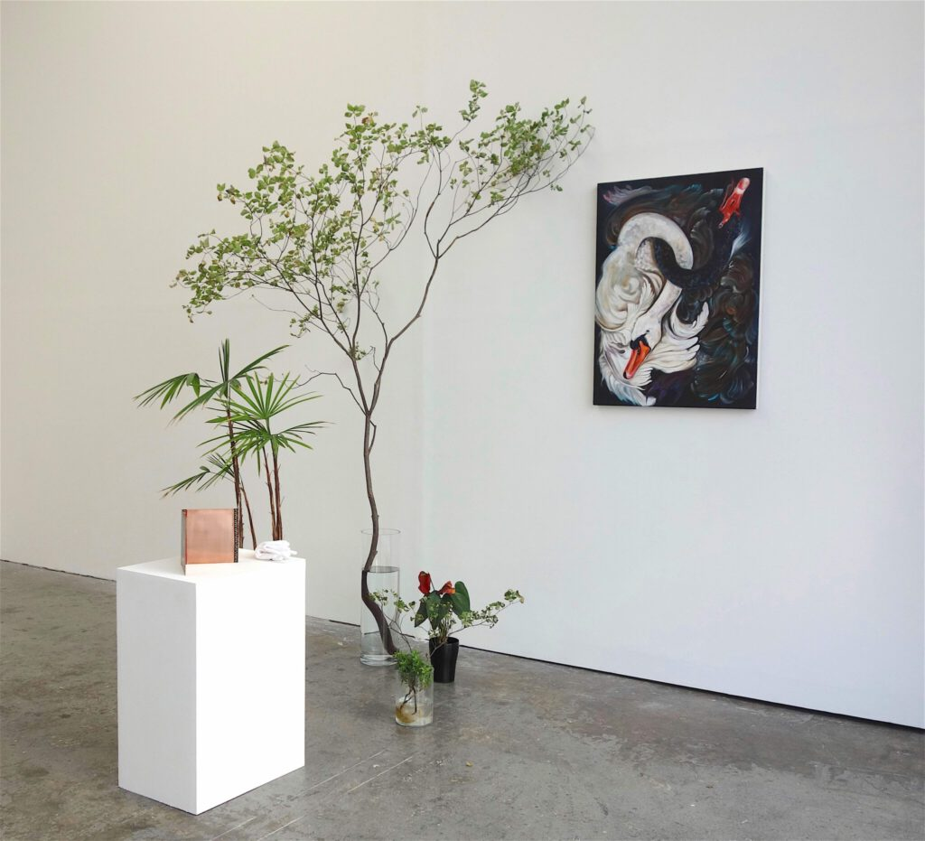 Installation view of works by Karla Kaplun
