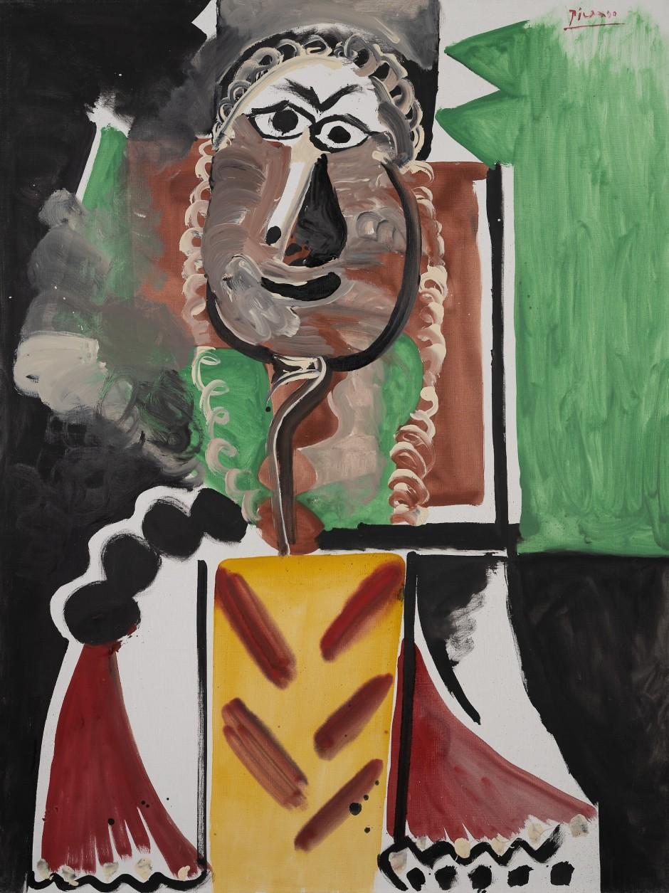 Pablo Picasso Buste d'homme 1969, estimate 10-15 Mio US$