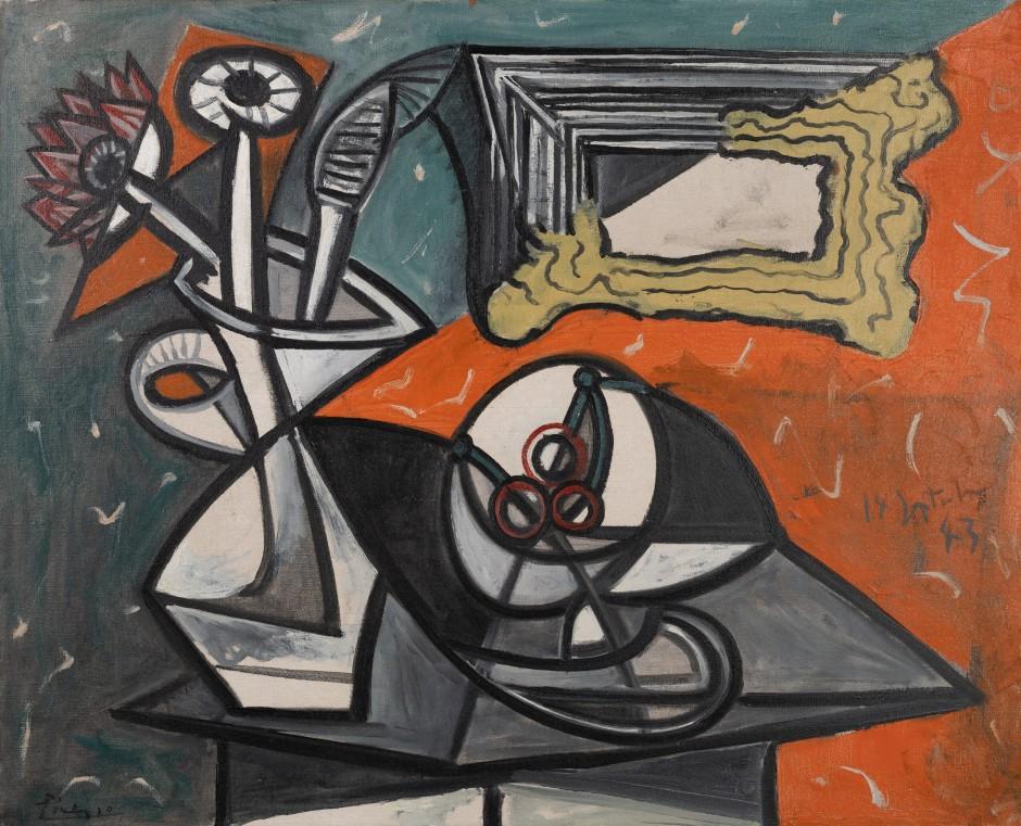 Pablo Picasso Nature morte au panier de fruits et aux fleurs 1942