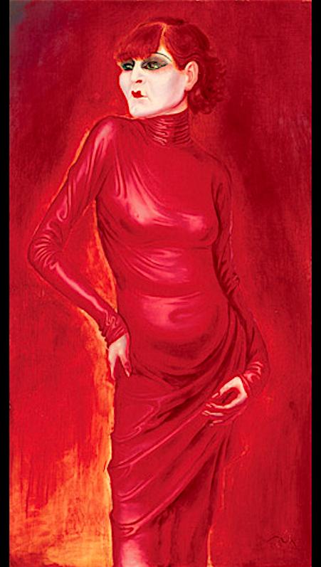 オットー・ディクス作「アニタ・ベルバー」1925年
