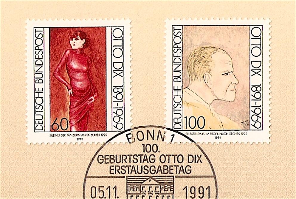 オットー・ディクス Otto Dix (1891 – 1969), left Anita Berber