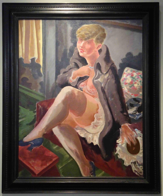 ジョージ・グロス 「Seated Girl, Lotte Schmalhausen」Oil on canvas 1928
