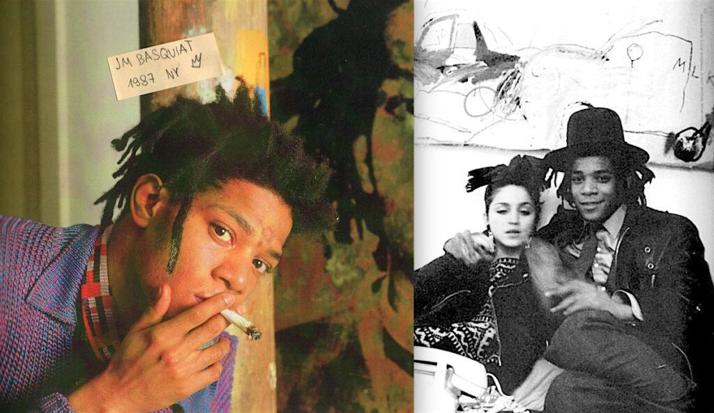 前澤友作の大好きなアーティスト バスキア、右、恋人同士 マドンナとバスキア、喫煙マリファナ