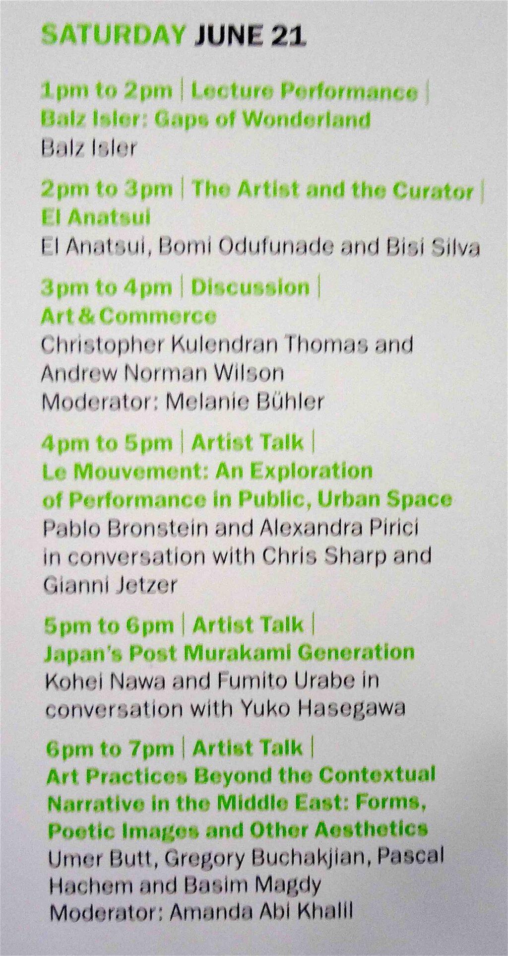 Art Basel Salon program on 2014-6-21, 17-18 Talk on Post Murakami