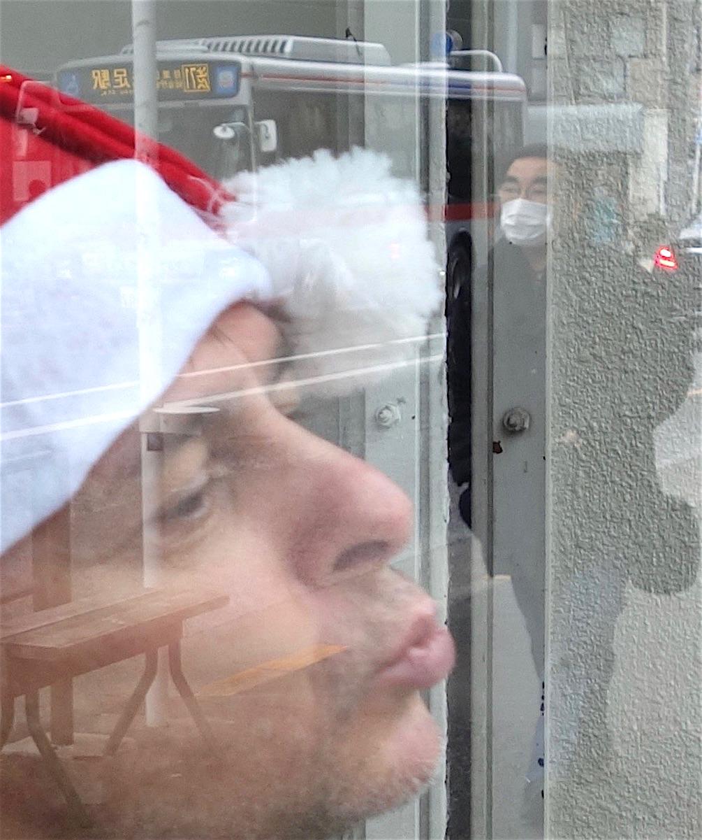 Hommage to Jiří Kovanda on Christmas Eve, Aoyama Meguro, Tokyo