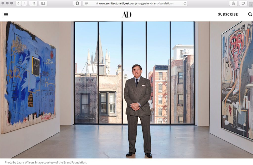 screenshot from Architectural Digest website 2020:1:27