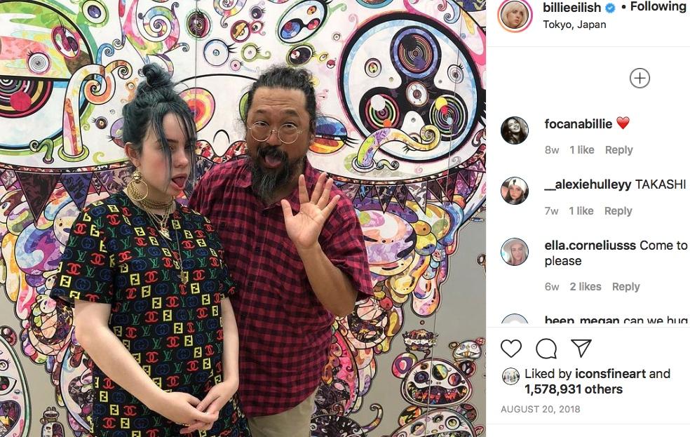 Billie Eilish and MURAKAMI Takashi 2018