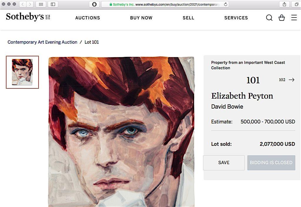 David Bowie by Elizabeth Peyton