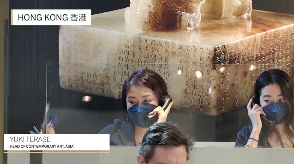 Sotheby's Hong Kong Contemporary Art Evening Sale, highly successful TERASE Yuki 寺瀬由紀, Head of Contemporary Art, Asia (screenshot)