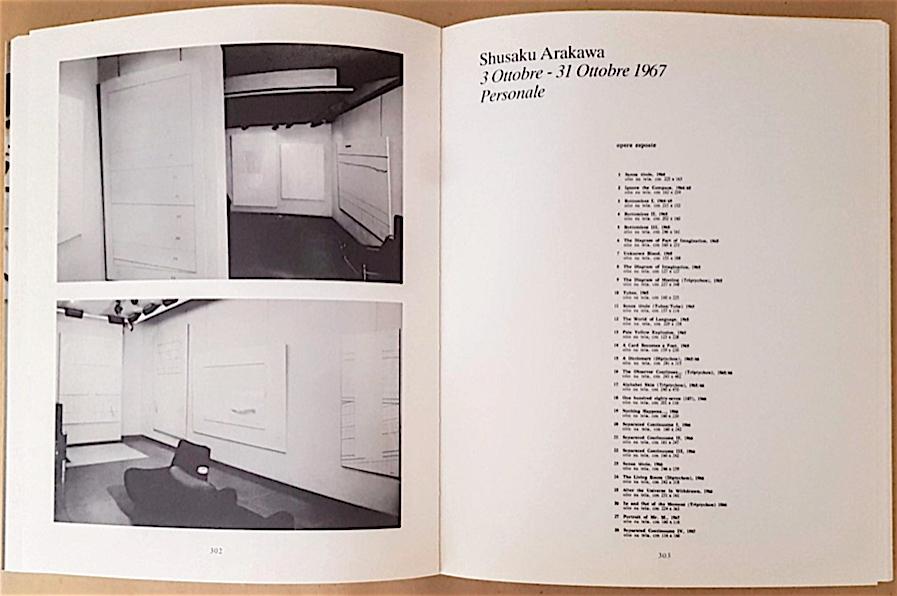 荒川修作 「Personale」個展 @ ガレリア・シュワルツ、ミラノ 1967年10月