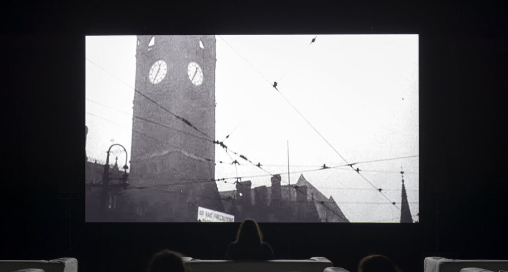 """Christian Marclay """"The-Clock"""" 2010 (looped 24-hour video)"""