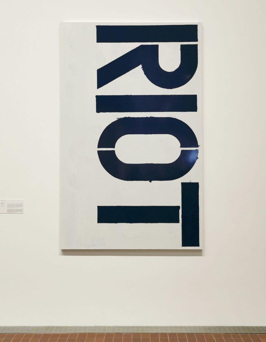 "Christopher Wool ""Untitled"" 1989-1990, enamel on aluminium"