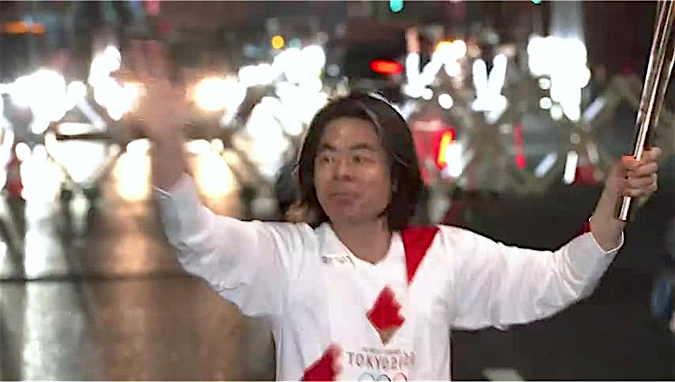 HIBINO Katsuhiko 日比野克彦@東京五輪聖火リレー 2021年