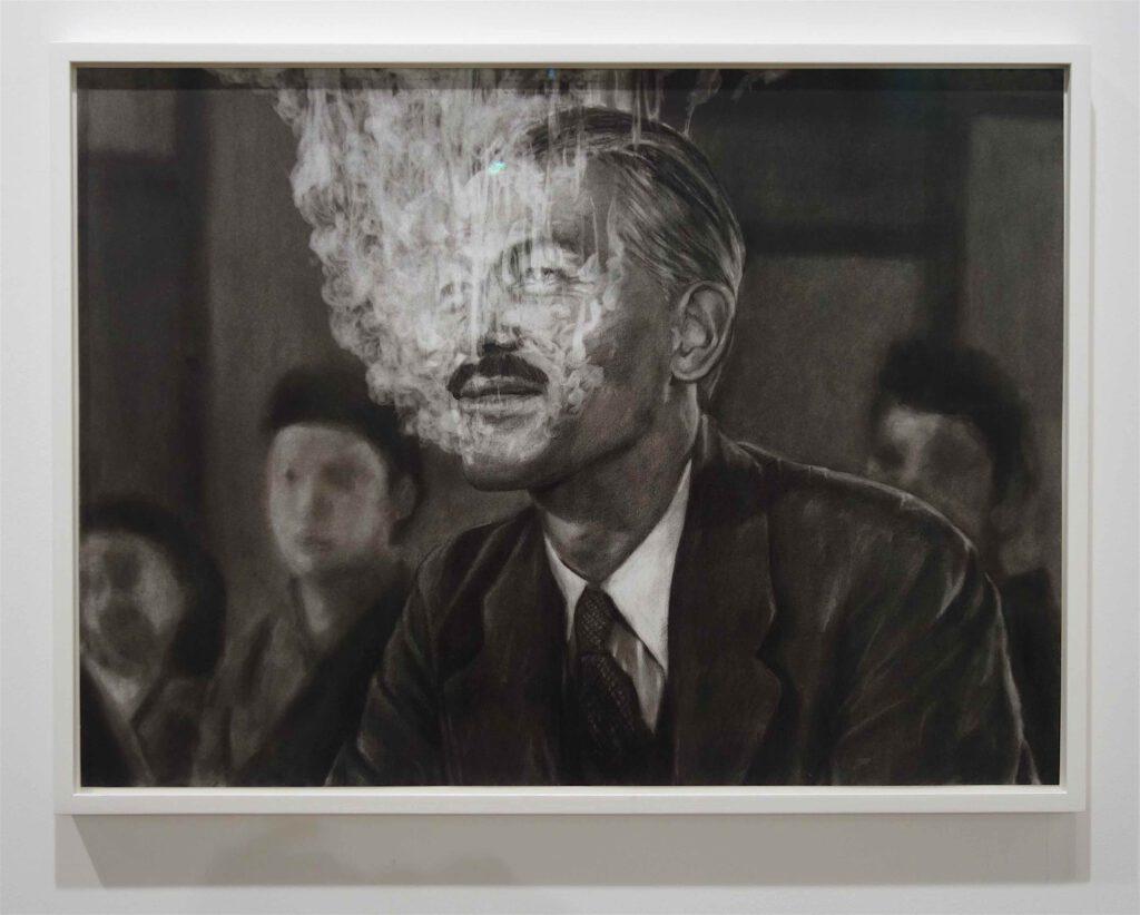 "KOIZUMI Meiro 小泉明郎 ""Fog #4"" Charcoal on paper @ Annet Gelink Gallery ART BASEL 2019"