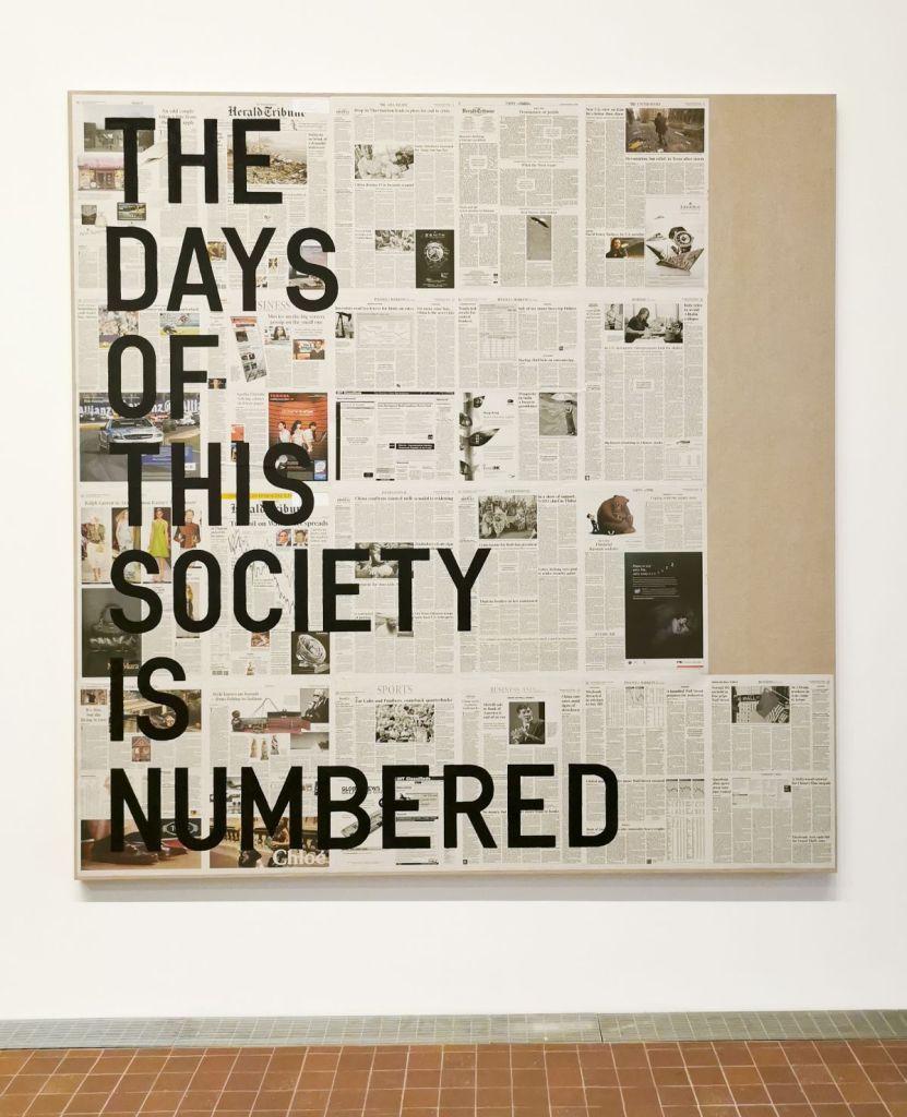 "Rirkrit Tiravanija ""The Days of this Society Is Numbered"" 2010"