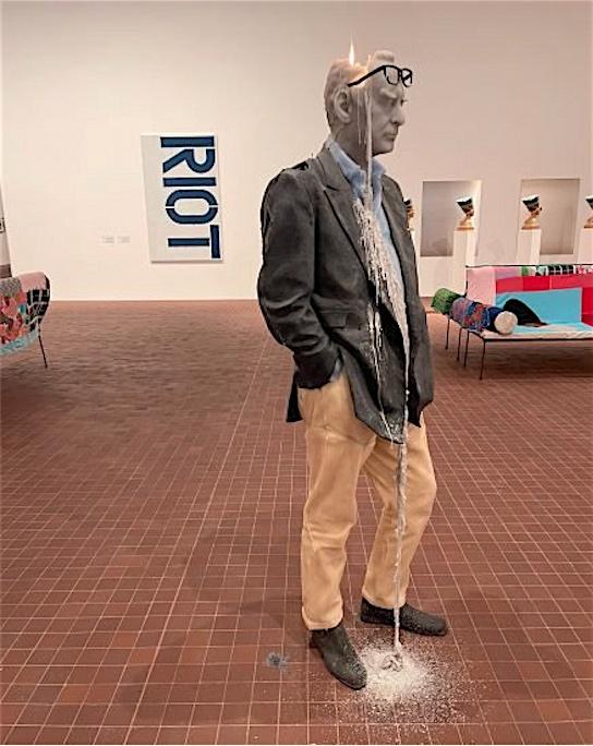 "Urs Fischer ""Untitled"" (2011) (Rudi Candle) @ Collection Maja Hoffmann, LUMA Arles 2021"