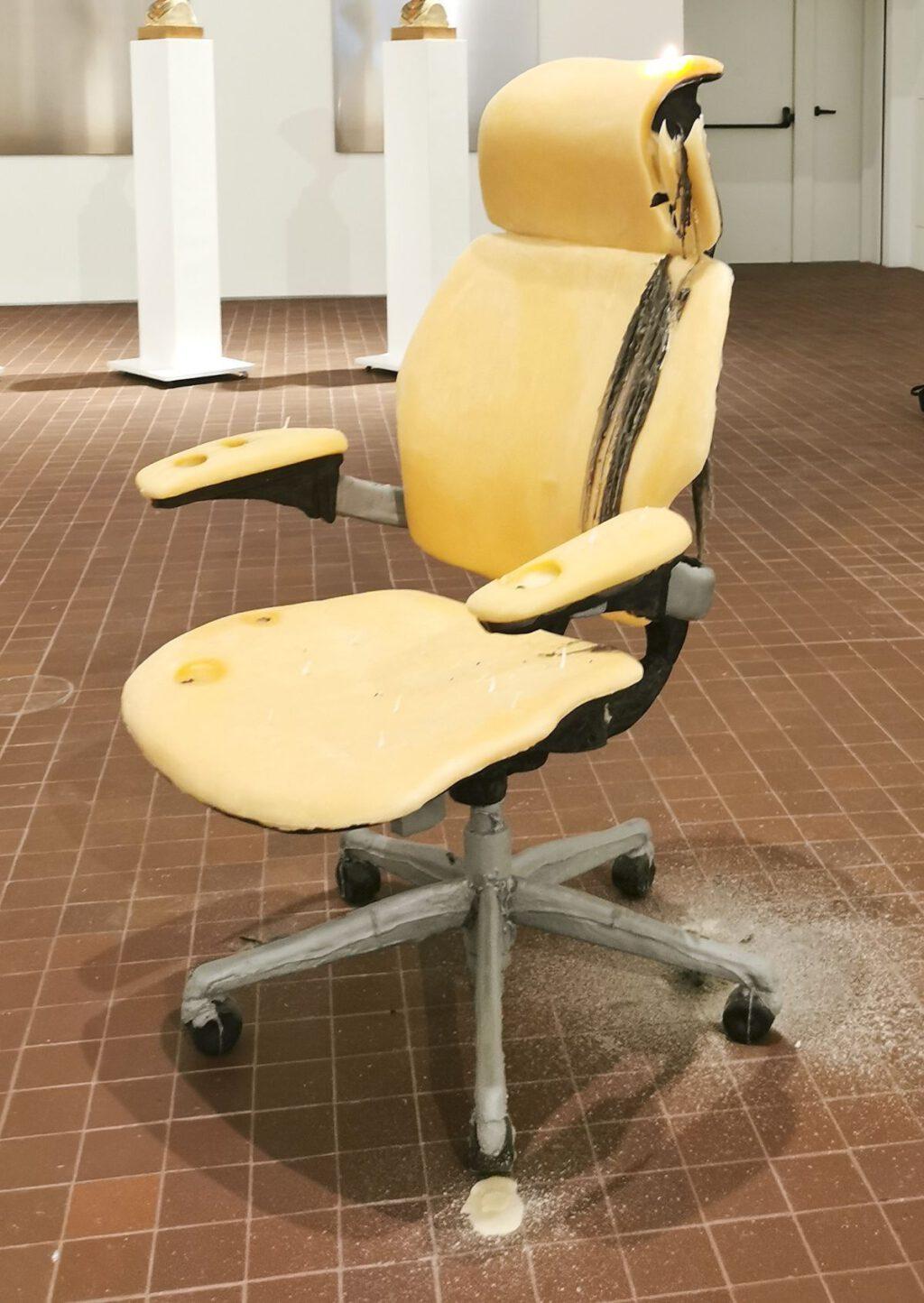 "Urs Fischer ""Untitled"" (2011) (The Rape of the Sabine Women) @ Collection Maja Hoffmann, LUMA Arles 2021 (chair)"
