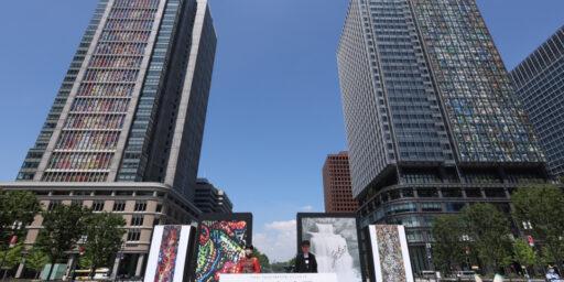 オリンピックの東京大壁画の横尾忠則・美美親子:アーティスティックなダサさ