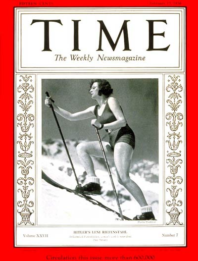 Hitler's Leni Riefenstahl Time magazine 1936
