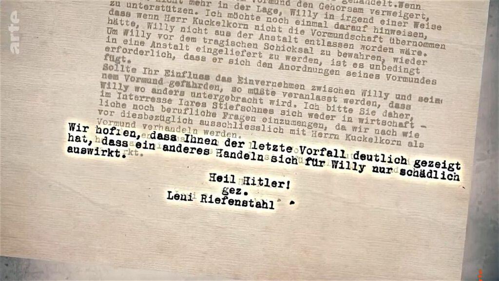 Heil Hitler! signed by Leni Riefenstahl