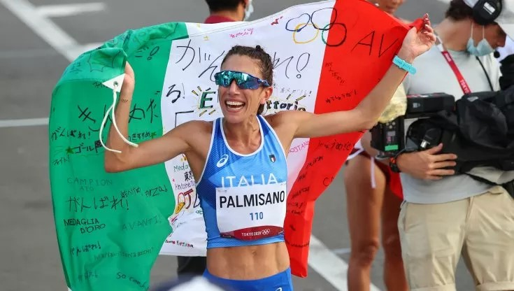 Italy's Antonella Palmisano wins Gold in women 20 km walk