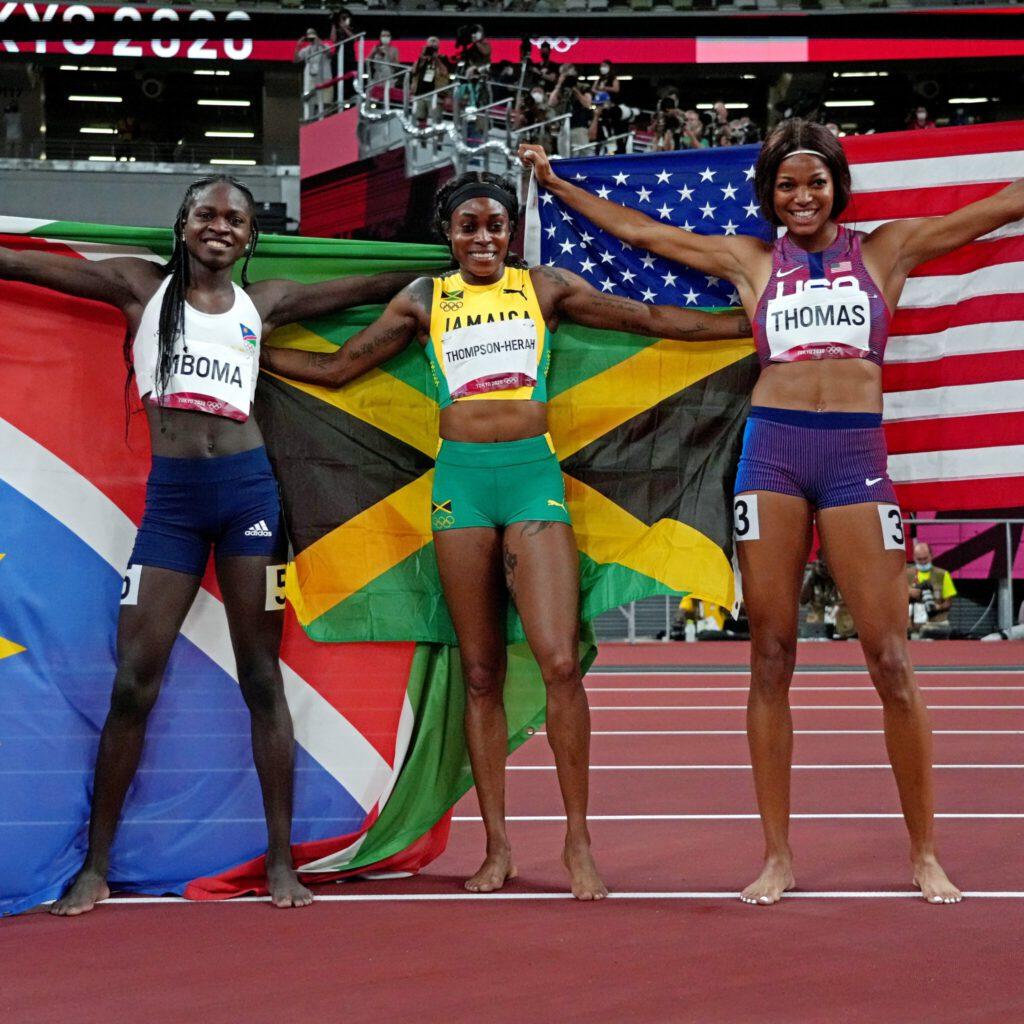 Jamaica's Elaine Thompson-Herah, Gold 200m,
