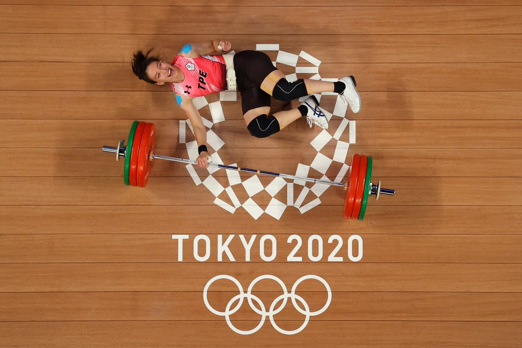 Kuo Hsing-Chun takes the Gold Medal in weightlifting