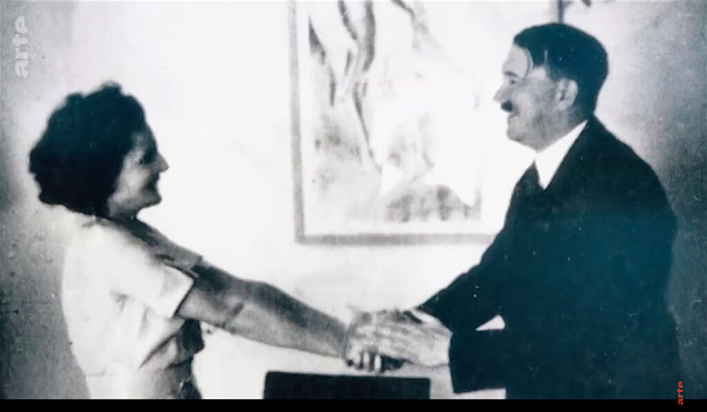 Leni Riefenstahl and Adolf Hitler in private