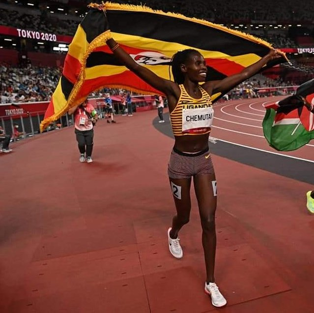 Peruth Chemutai thanks for winning us a gold medal in the women's 3,000m steeplechase at the Olympics ,proud of you