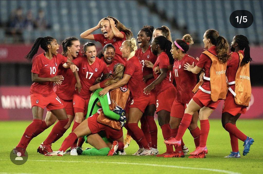 Women Soccer Team Canada, Gold