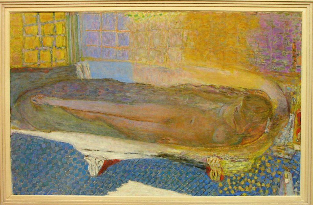 ピエール・ボナール「お風呂での裸」1936年、パリ