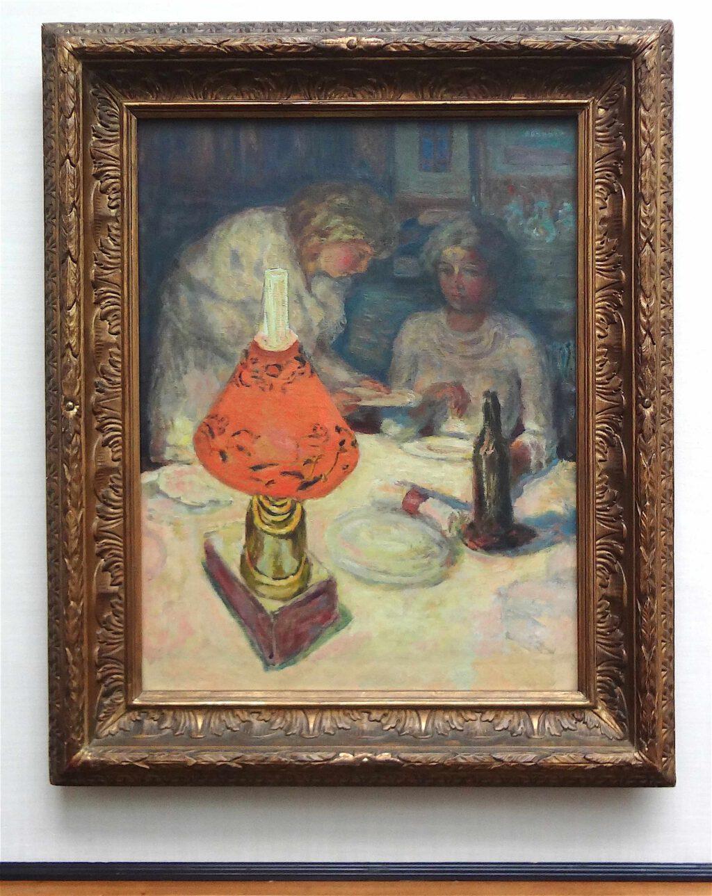 ピエール・ボナール「オレンジ色のランプシェード」1908年、ウィンタートゥール