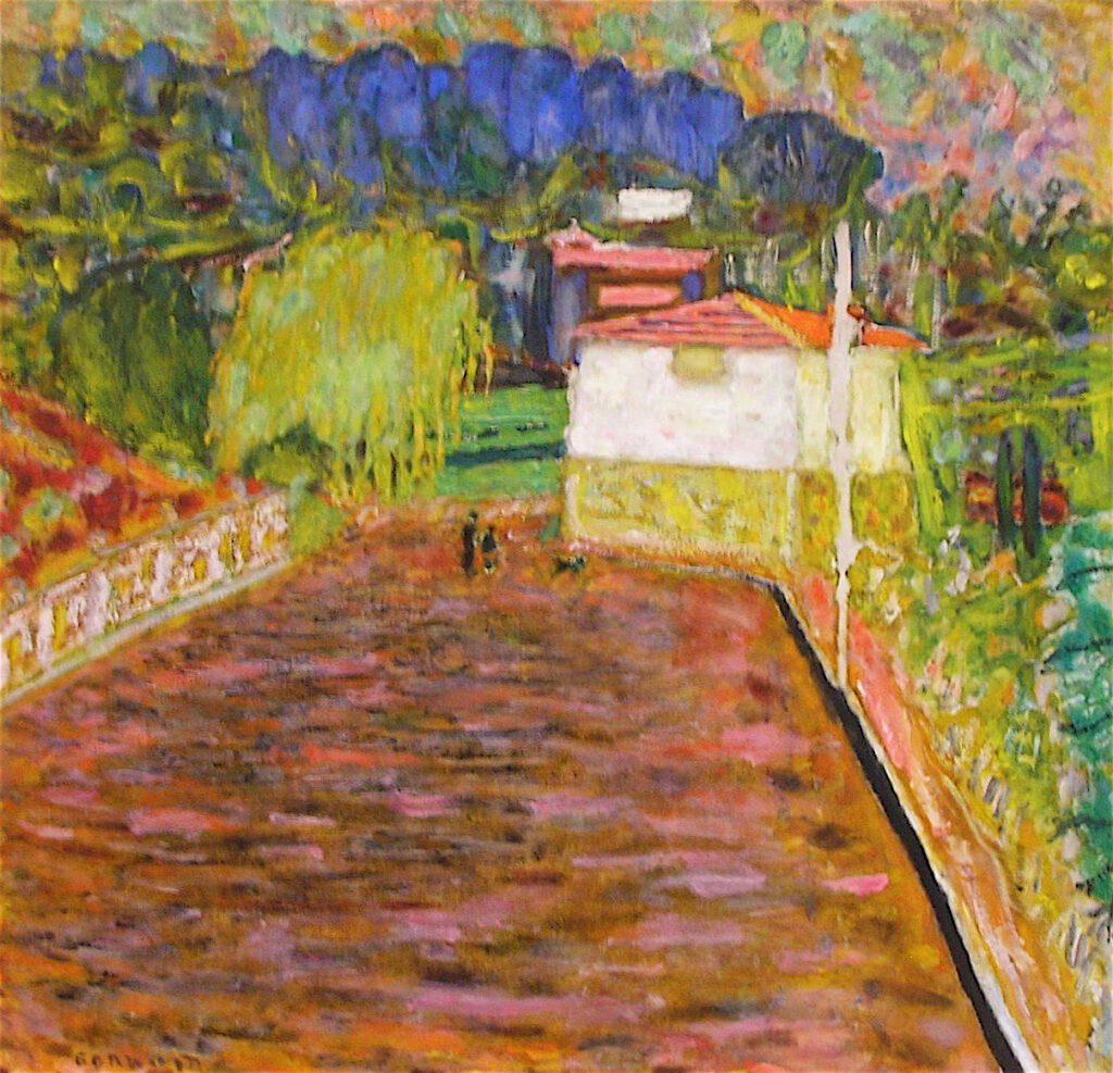 ピエール・ボナール「ピンク色の道」1934年、ラノンシアード美術館、サントロペ