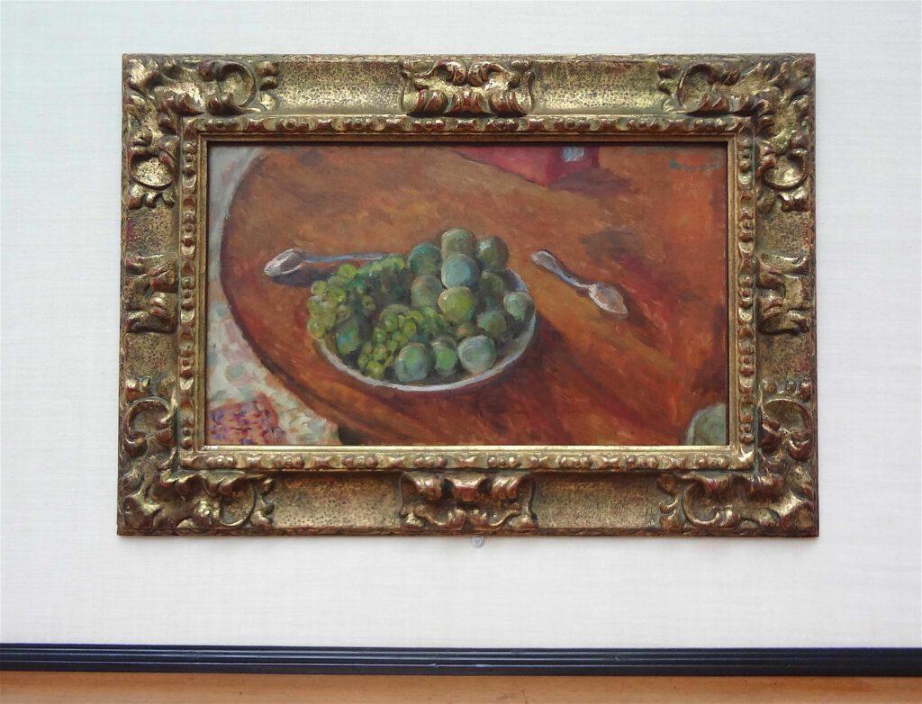 ピエール・ボナール「プラムとぶどう」1907-1908年頃、ウィンタートゥール