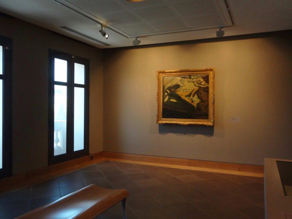 ピエール・ボナール「ベッドの上でうとうとする女性」又は「惰性的な女性」1899年 油、96.4 x 105.2 cm @ ボナール美術館
