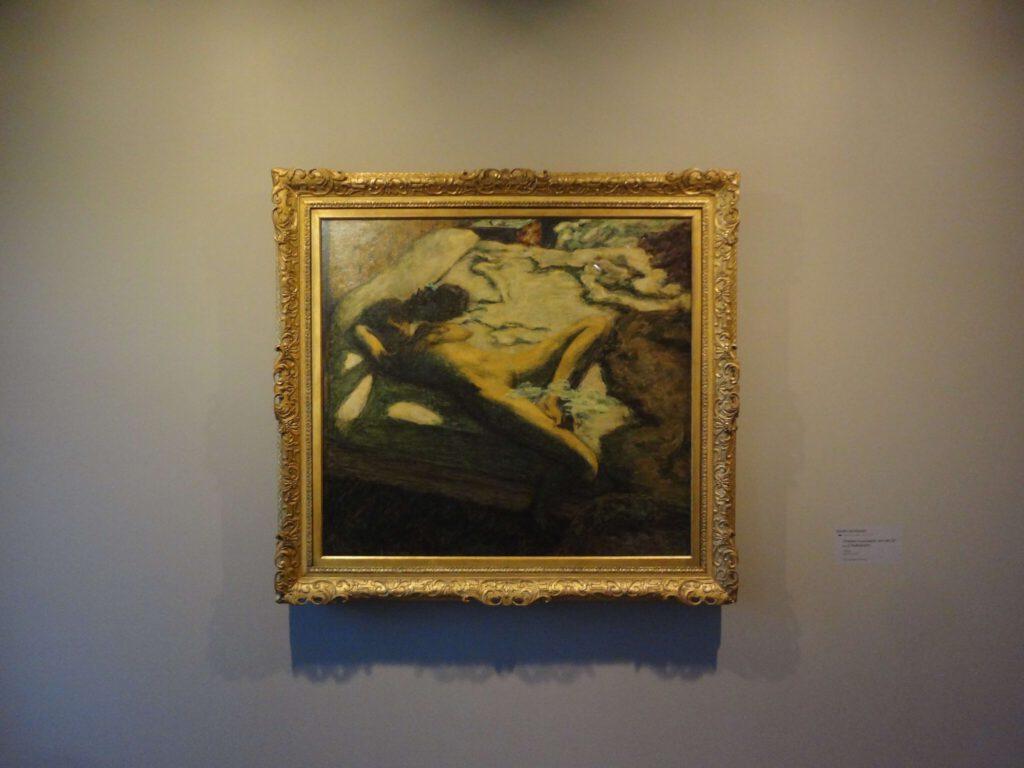 ピエール・ボナール「ベッドの上でうとうとする女性」又は「惰性的な女性」1899年