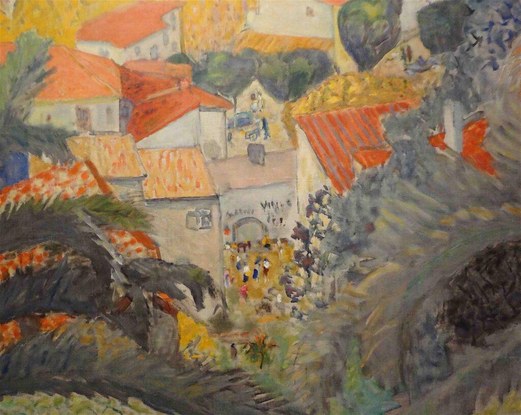 ピエール・ボナール「ル・カネの風景」1927年、部分