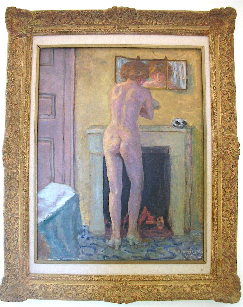 ピエール・ボナール「暖炉の前の裸」1919年、ラノンシアード美術館、サントロペ