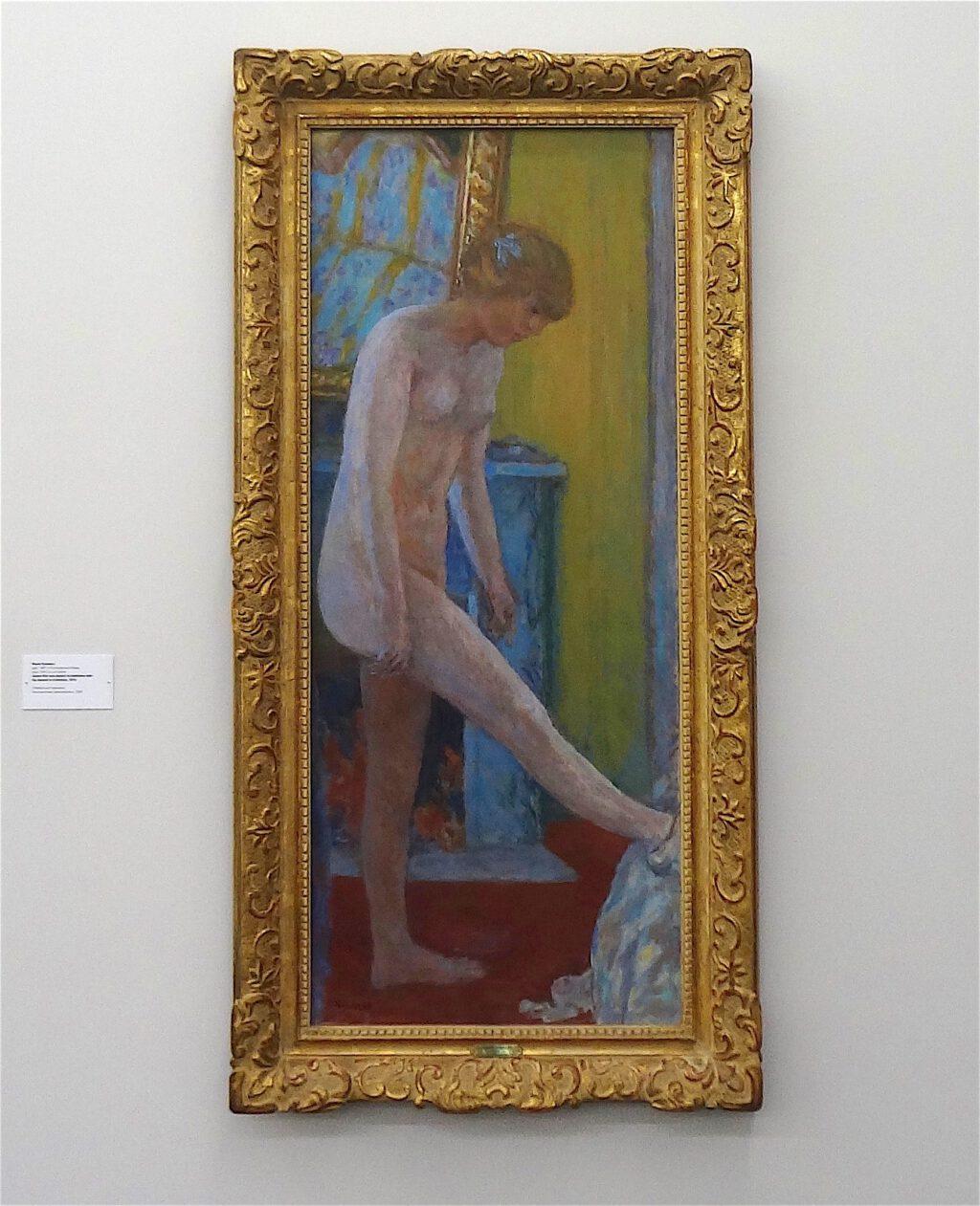 ピエール・ボナール「暖炉の前の裸の女の子」1919年、ウィンタートゥール