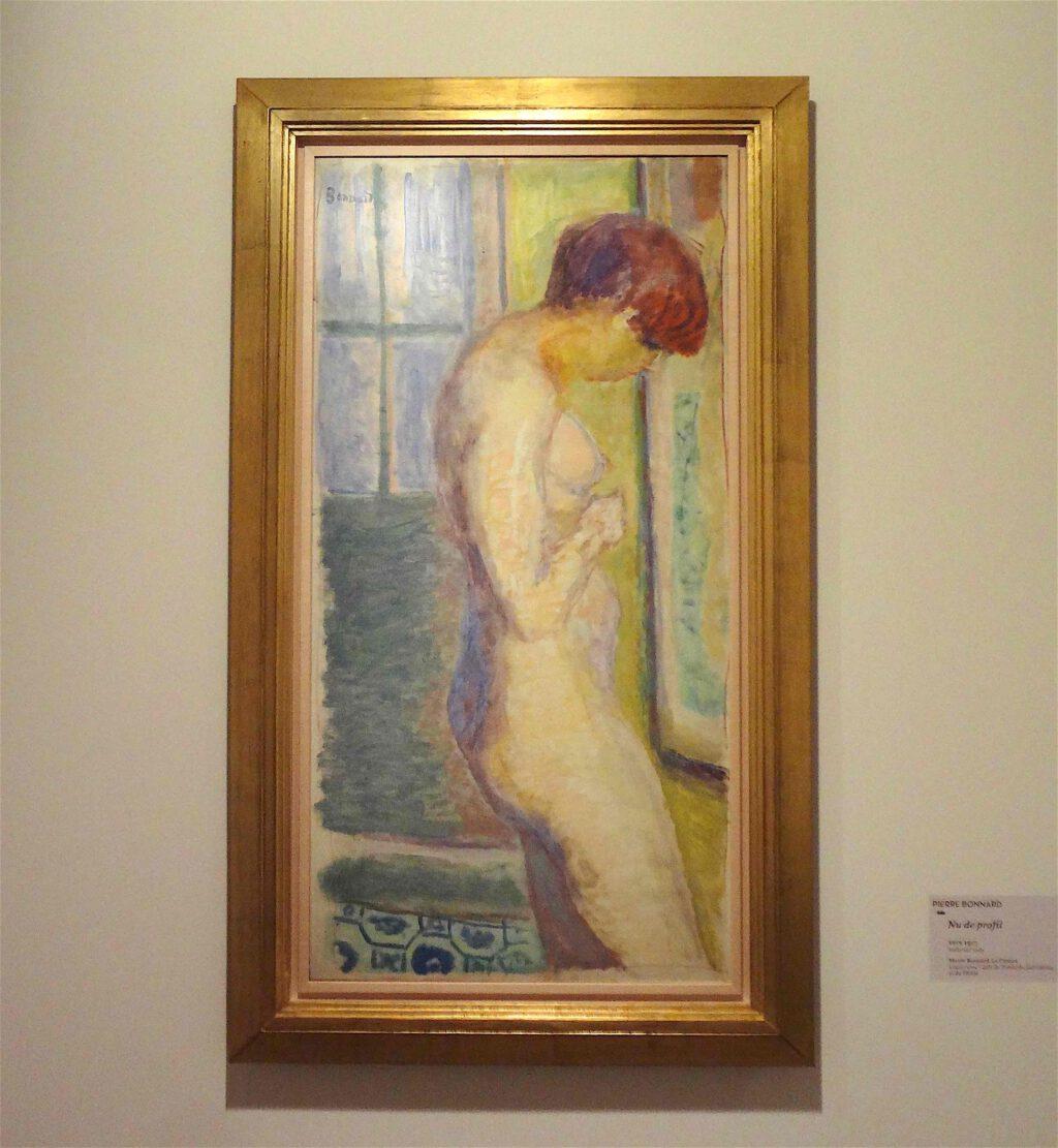 ピエール・ボナール「横からの裸婦」1917年頃、ボナール美術館