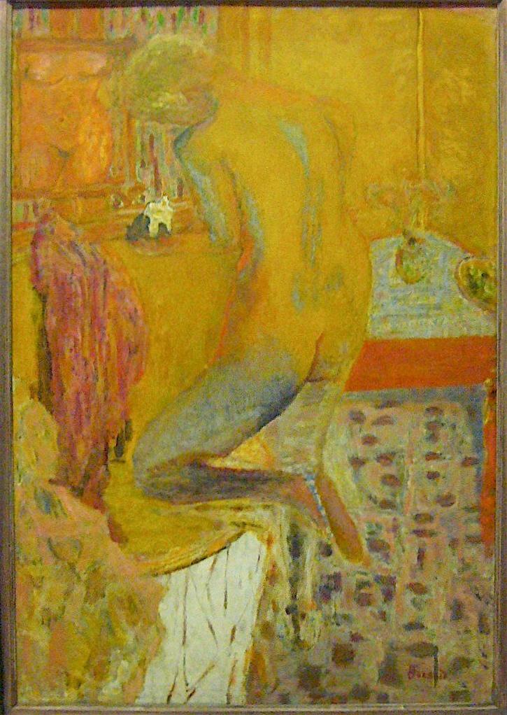 ピエール・ボナール「浴室の背面ヌード」1934年頃、パリ