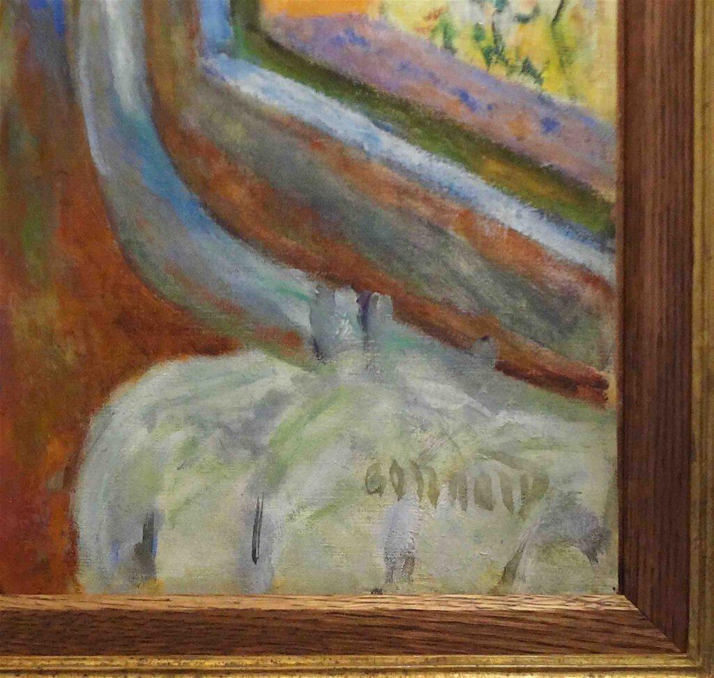ピエール・ボナール「眠っている女性」1928年頃、油、50 x 71 cm、サイン、ボナール美術館