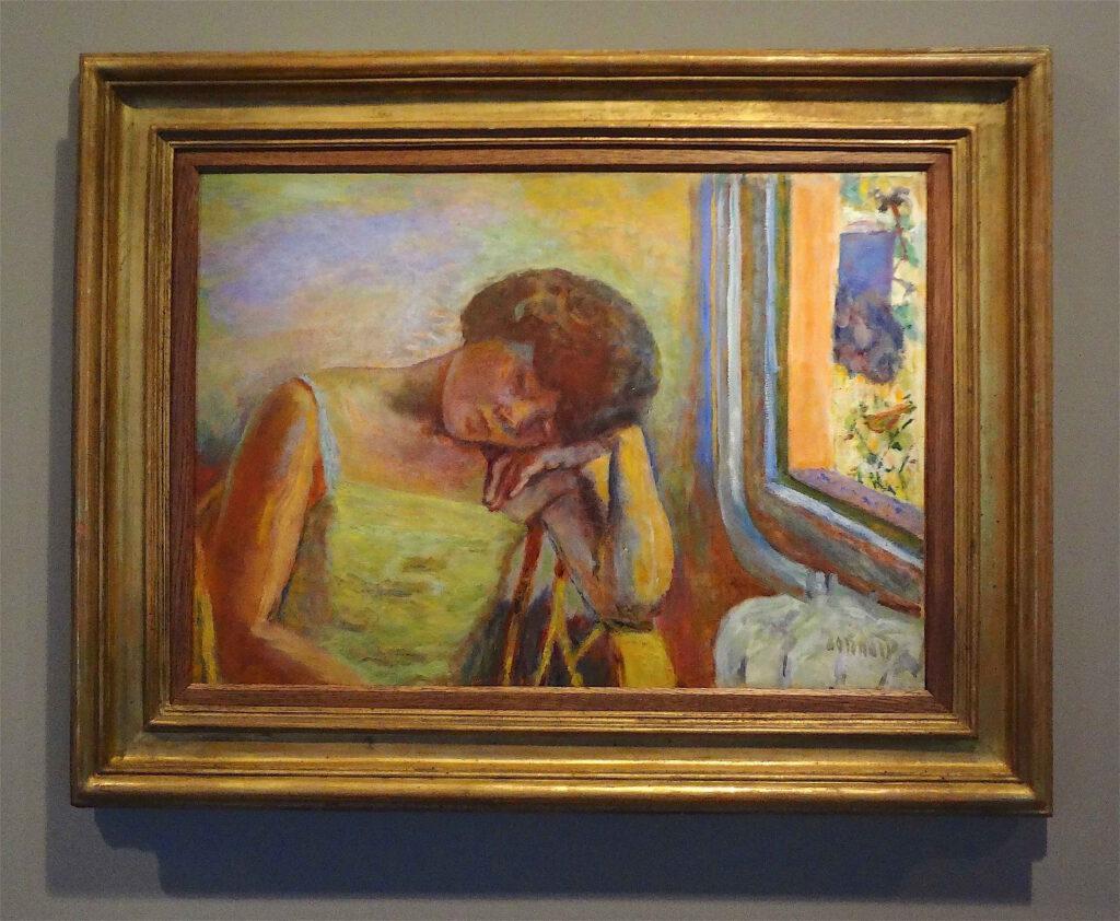 ピエール・ボナール「眠っている女性」1928年頃、油、50 x 71 cm、ボナール美術館