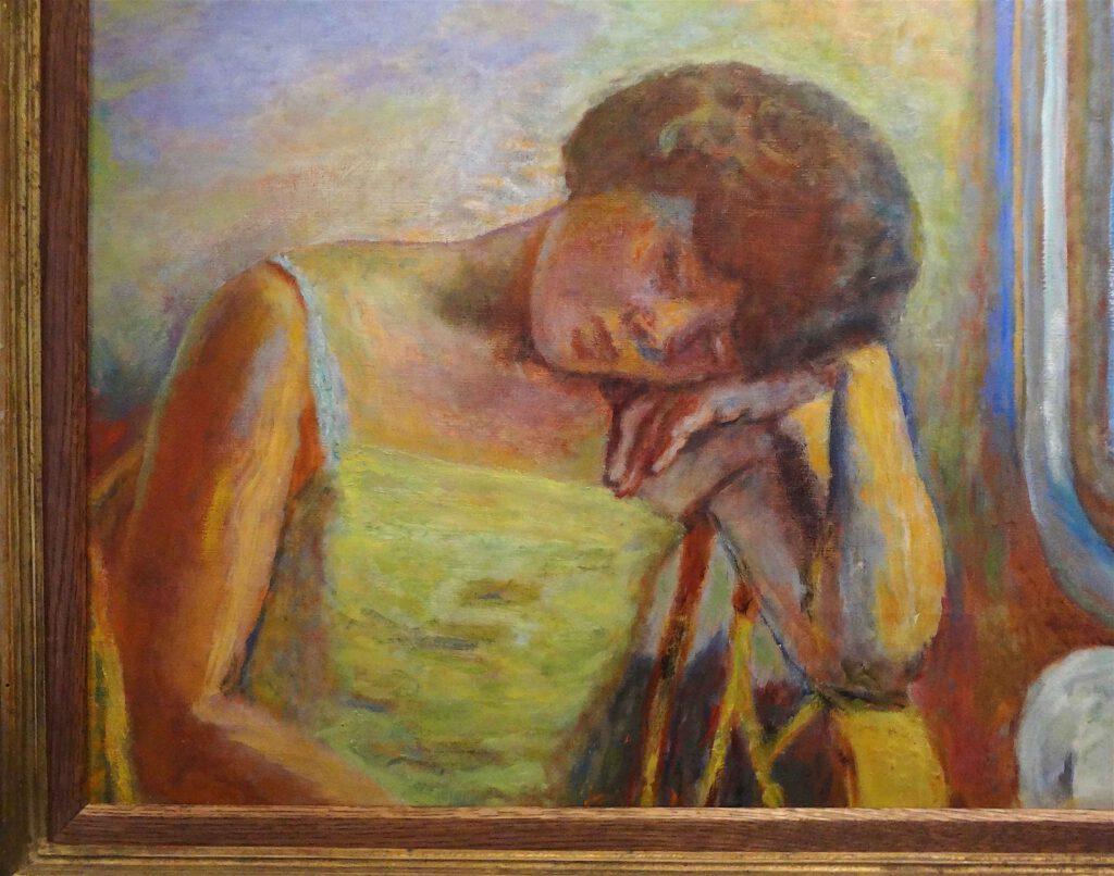 ピエール・ボナール「眠っている女性」1928年頃、油、50 x 71 cm、部分、ボナール美術館
